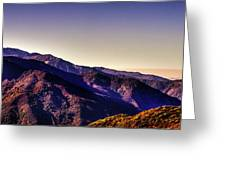 View From Eleven Ranges Overlook Greeting Card