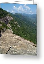 View From Exclamation Point At Chimney Rock Nc Greeting Card