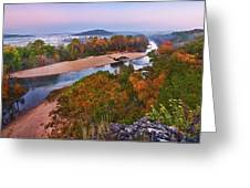 View From Greens Cave Bluff Greeting Card