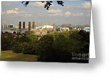 View From Greenwich Park Greeting Card