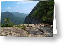 View From Hickory Nut Gorge Nc Greeting Card