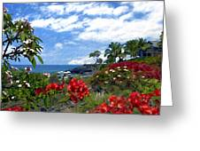 View From Keauhou Kona Greeting Card