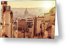 View From Montmartre Greeting Card