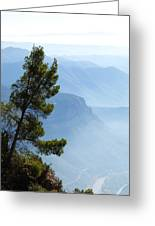 View From Montserrat, Spain Greeting Card
