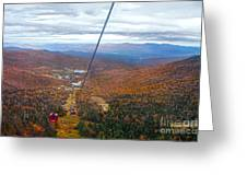 View From Mount Mansfield In Autumn Greeting Card