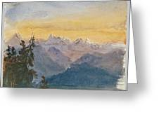View From Mount Pilatus Greeting Card