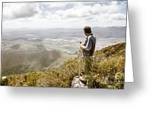 View From Mt Zeehan Tasmania Greeting Card