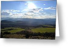 View From Nebias Greeting Card
