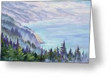 View From Nepenthe Greeting Card