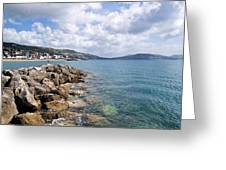 View From North Wall - Lyme Regis Greeting Card