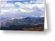 View From Pikes Peak 1964 Greeting Card