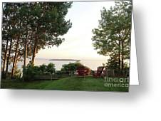 View From Ring Dang Doo South Hero Vermont Greeting Card
