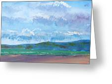 View From Sandy Bay Exmouth Greeting Card