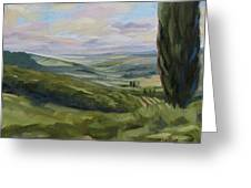 View From Sienna Greeting Card