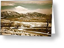 Flatironsview From Superior Greeting Card