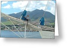 St. Kitts From The Bow Greeting Card