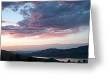 View From The Cabin Near Heeney Colorado  Greeting Card