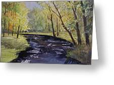 View From The Covered Bridge Greeting Card