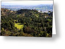 View From The Griffith Observatory 0792 Greeting Card