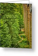View From The Lllangollen Aqueduct In Wales Greeting Card