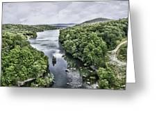 View From The Monksville Bridge Greeting Card