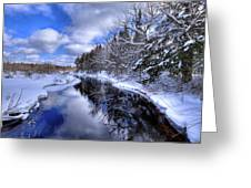 View From The North Street Bridge Greeting Card