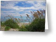 View From The Outer Banks Dunes Greeting Card