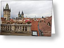 View From The Top In Prague Greeting Card