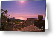 View From The Top In Sicily 2 Greeting Card
