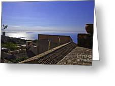 View From The Top In Sicily Greeting Card