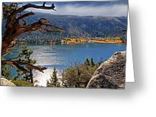 View From The Top Of June Lake Greeting Card