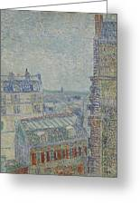 View From Theo S Apartment Paris, March - April 1887 Vincent Van Gogh 1853  1890 Greeting Card