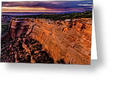 View From Upper Ute Canyon, Colorado National Monument Greeting Card