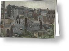 View From Vincent S Studio Paris, June 1886 Vincent Van Gogh 1853  1890 Greeting Card