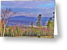 View From Von Trapps Lodge 1 Greeting Card