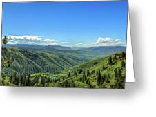 View From White Bird Hill Greeting Card