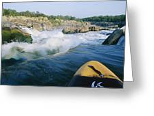 View From Whitewater Kayak At The Top Greeting Card