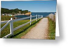 View In Perce Quebec Greeting Card