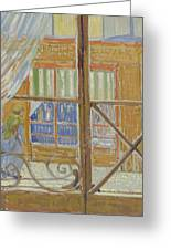 View Of A Butcher S Shop Arles, February 1888 Vincent Van Gogh 1853  1890 Greeting Card