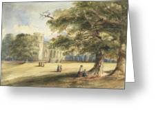 View Of A Churchyard, Southborough, Kent Greeting Card