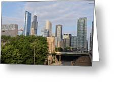 View Of A City Greeting Card