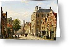 View Of A Dutch Street In Summer Greeting Card