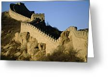 View Of A Section Of The Great Wall Greeting Card