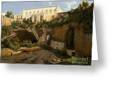 View Of A Villa, Pizzofalcone, Naples Greeting Card