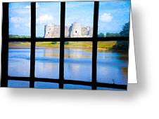 View Of A Wales' Castle Greeting Card