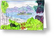View Of Alcatraz Greeting Card