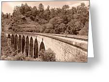 View Of Ancient Bridge Greeting Card