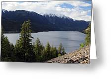 View Of Anderson Lake Greeting Card by Pierre Leclerc Photography
