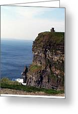 View Of Aran Islands And Cliffs Of Moher County Clare Ireland  Greeting Card