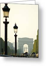 View Of Arc De Triomphe Greeting Card